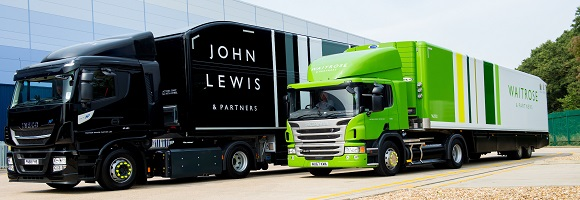 John Lewis and Waitrose delivery vehicles