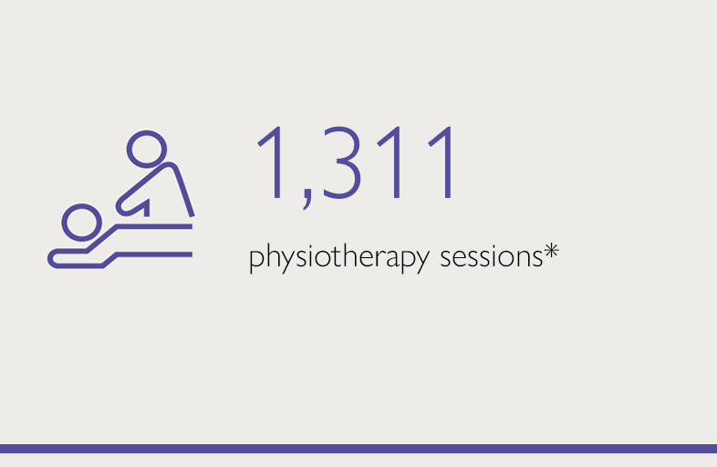 1311 physiotherapy sessions