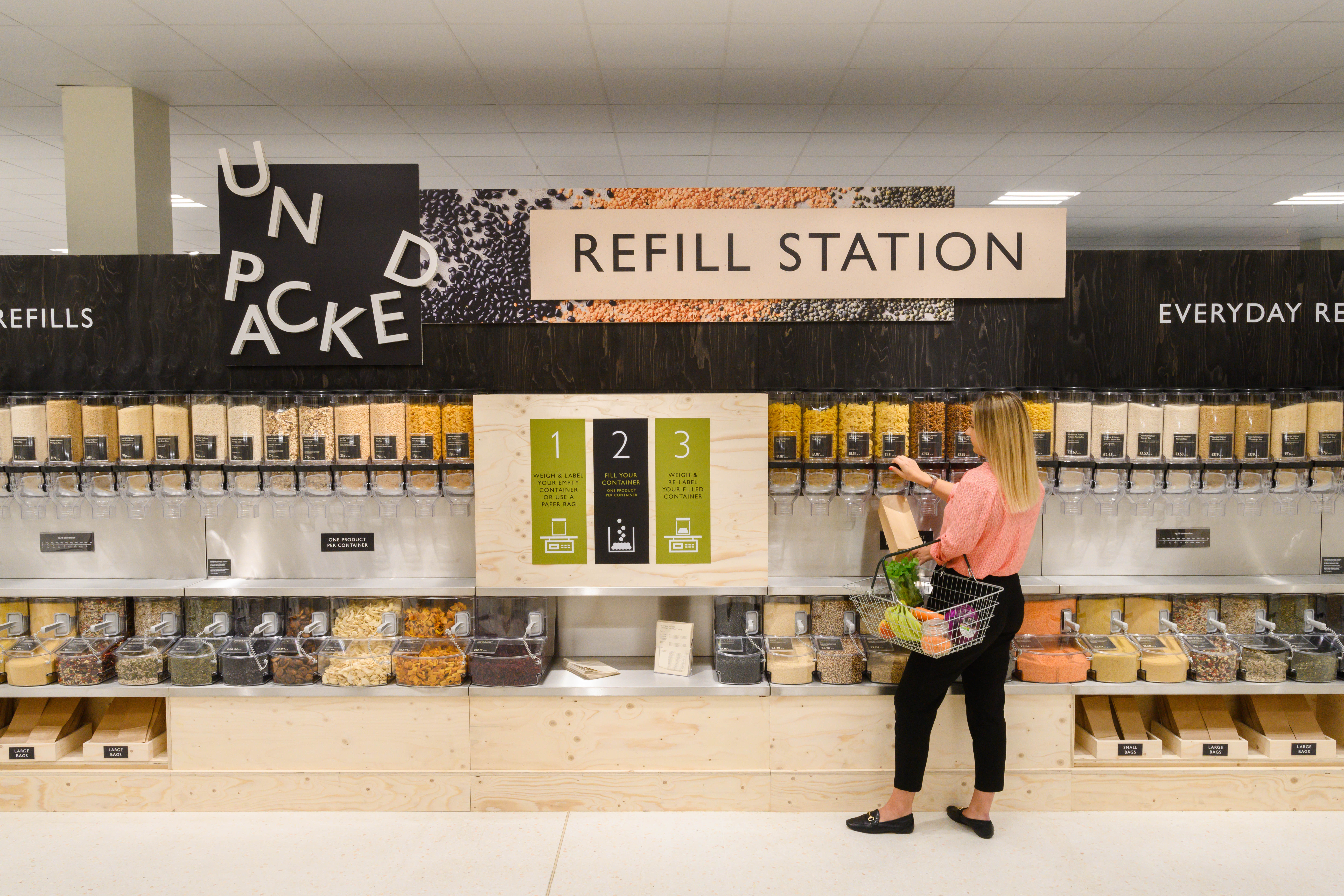 WAITROSE UNPACKED REFILLABLES TEST LAUNCHES IN CHELTENHAM AS RETAILER UNVEILS NEW LOOK STORE