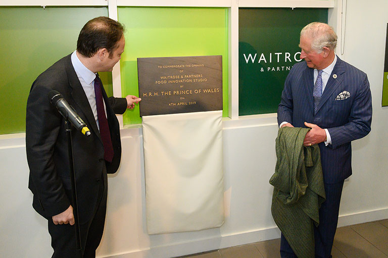 HRH THE PRINCE OF WALES VISITS WAITROSE & PARTNERS' HEADQUARTERS